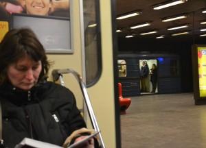 Woman on Train, Budapest Underground Metro Tourist Scam