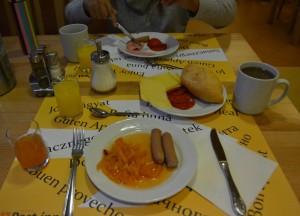 Breakfast at Hotel, Budapest Underground Metro Tourist Scam