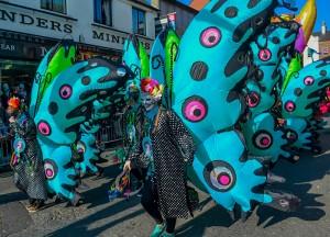 Beautiful Butterflies, Celebrating Saint Patricks Day in Downpatrick Northern Ireland