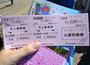 Sakura Liner, Travel to Mount Fuji Shibazakura Flower Festival